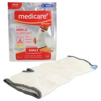 MEDICARE SPORT ELASTICATED ANKLE SUPPORT MEDIUM 20CM-23CM