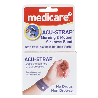 MEDICARE TRAVEL & MOTION SICKNESS WRIST BANDS