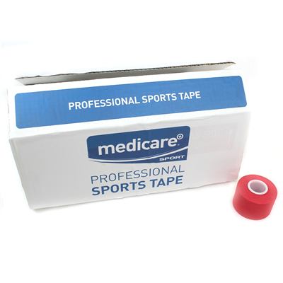 MEDICARE SPORTS TAPE 3.8CM X 10M - RED COLOUR