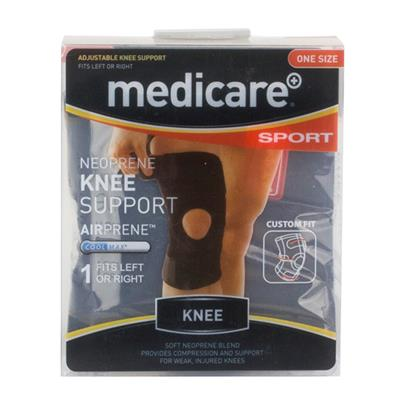 MEDICARE SPORT NEOPRENE KNEE SUPPORT ONE SIZE FITS ALL