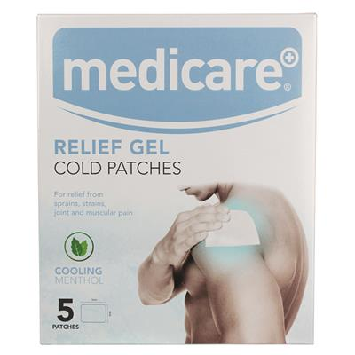 MEDICARE COLD GEL PATCHES 5'S