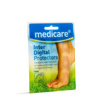 MEDICARE INTER-DIGITAL FOAM PROTECTORS 9'S (DISPLAY OF 10)