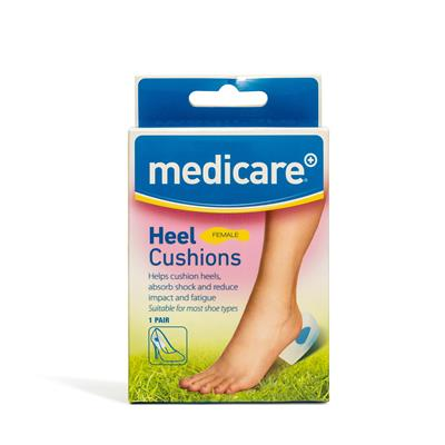 MEDICARE FEMALE HEEL CUSHION 2's