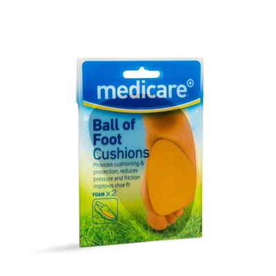 MEDICARE BALL OF FOOT CUSHIONS 2'S