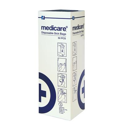 MEDICARE SICK BAGS (BOX OF 50)