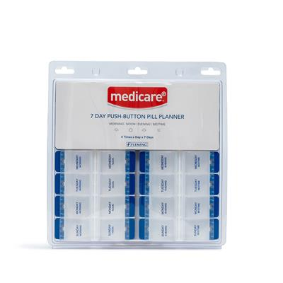 MEDICARE 7 DAY DELUXE PUSH BUTTON PILL BOX