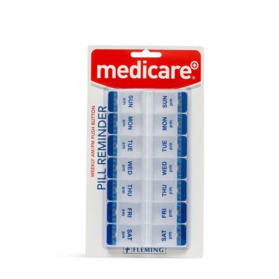 MEDICARE 7 DAY AM/PM PUSH BUTTON PILL BOX EX LARGE*