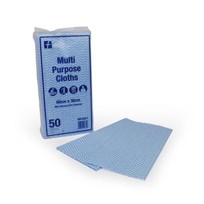 MEDICARE CLEANING CLOTHS BLUE 60X30XM 50'S X 10