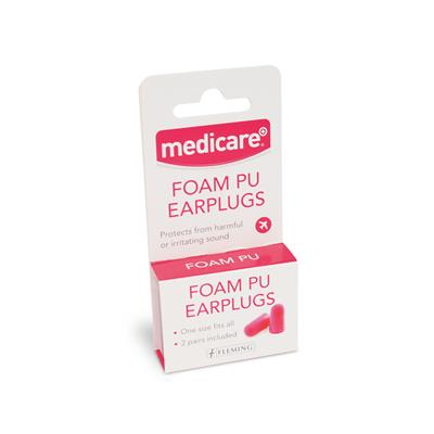 MEDICARE PU FOAM EAR PLUGS (2 PAIRS)