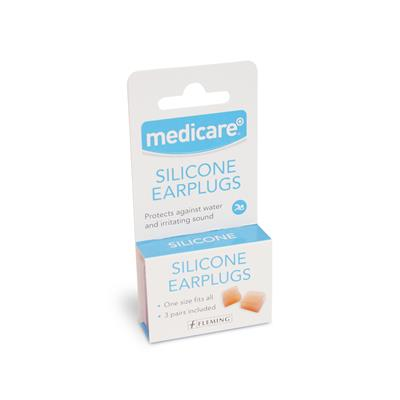MEDICARE SILICONE EAR PLUGS (3 PAIRS)