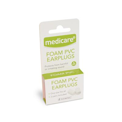 MEDICARE FOAM PVC EAR PLUGS (2 PAIRS)
