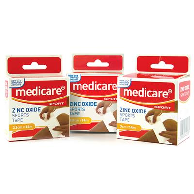 "MEDICARE SPORT ZINC OXIDE TAPE 2"" X 15YD (Single Boxes)"
