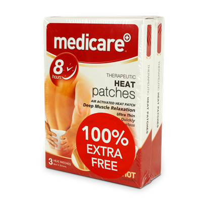 MEDICARE HEAT PATCHES 100% EXTRA FREE