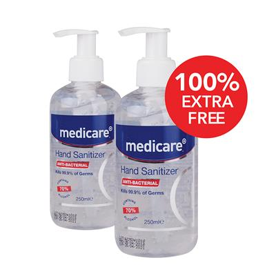 MEDICARE 250ML HAND SANITIZER – 100% EXTRA