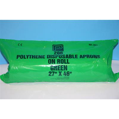 PREMIER 27 X 46 INCH APRONS ON ROLL GREEN (DISP) 200/ROLL