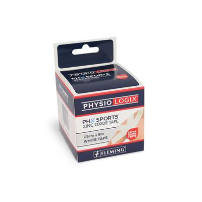 PHYSIOLOGIX PHX ZINC OXIDE TAPE 7.5CM X 9M - WHITE