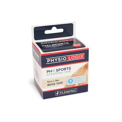 PHYSIOLOGIX PHX ZINC OXIDE TAPE 5CM X 9M - TAN
