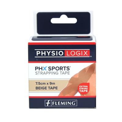 PHYSIOLOGIX PHX ZINC OXIDE TAPE 7.5CM X 9M - TAN