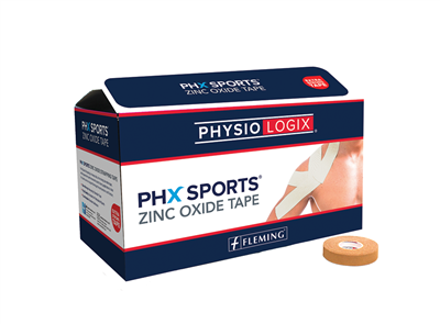 PHYSIOLOGIX PHX ZINC OXIDE TAPE 3.8CM X 9M - TAN - 32 PER BOX