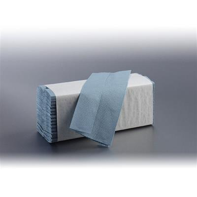 SATINO CZ-FOLD HAND TOWELS 1 PLY ECO BLUE 23X33CM (2700's)