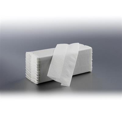 SATINO CZ-FOLD HAND TOWELS 2 PLY WHITE 23X33CM (24 X 100)