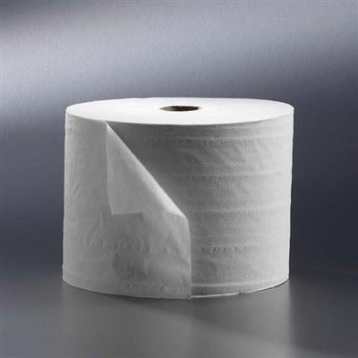 SATINO WIPING ROLLS 1 PLY SUPERWHITE 1000M X 23CM (2)
