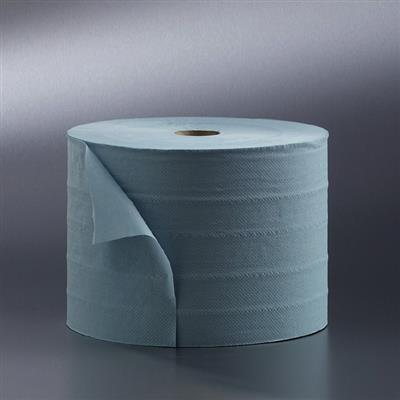 SATINO WIPING ROLLS 1 PLY BLUE 1000MX23CM GARAGE ROLL(2's)