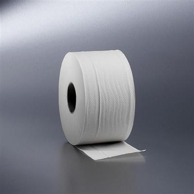 SATINO MINI JUMBO TOILET ROLLS 2 PLY WHITE 180M (12)