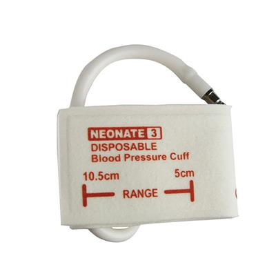 DISPOSABLE BLOOD PRESSURE CUFF NEONATE 5.0CM-10.5CM