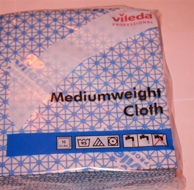 VILEDA MEDIUM WEIGHT CLOTHS BLUE (10'S)