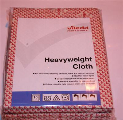 VILEDA HEAVYWEIGHT CLOTH RED (10'S)