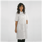 BV TISSUE GOWNS 67% polyester + 33% cotton NON STERILE UNISEX - FRONT OPENING Medium - White